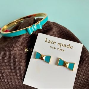 ✨HP✨ KATE SPADE Bow Bracelet and Earrings